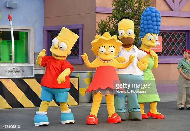 The Simpsons attend the Taste of Springfield press event at Universal Studios Hollywood on May 12 2015 in Universal City California