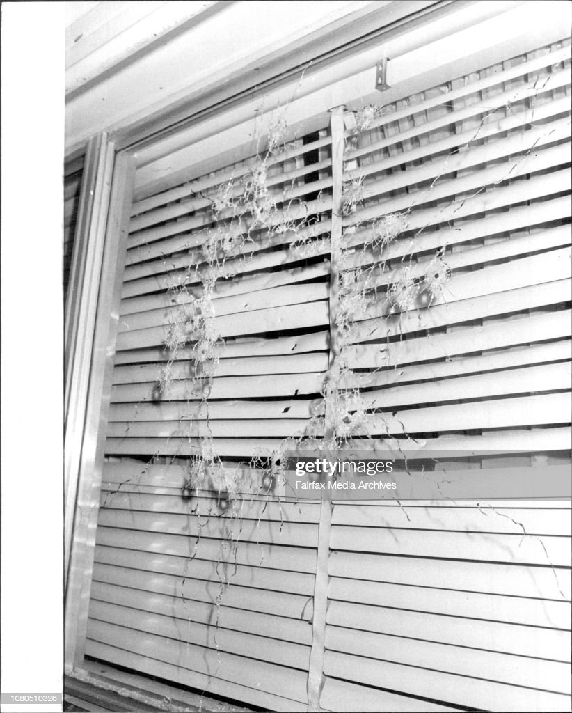 The Simpsons Bedroom Window Shattered By A Shotgun Blast Early Nachrichtenfoto Getty Images