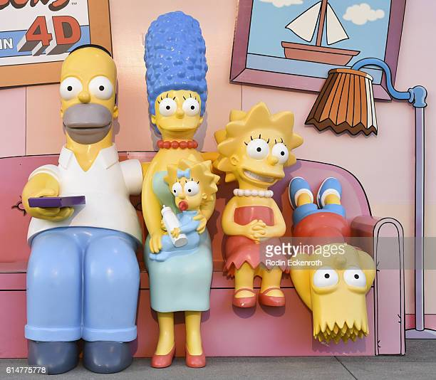 'The Simpsons' family couch gag at the celebration of the 600th episode of 'The Simpsons' Couch Gag Virtual Reality Experience at YouTube Space LA on...