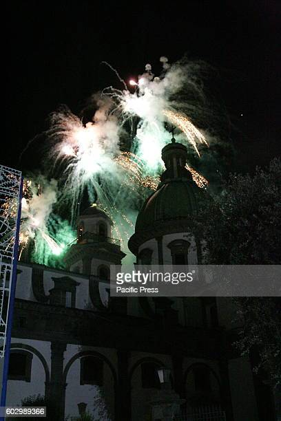 ANASTASIA CAMPANIA/NAPOLI ITALY The simulated Incendio del Campanile of the Marian Shrine is a high time religious and cultural history of ancient...