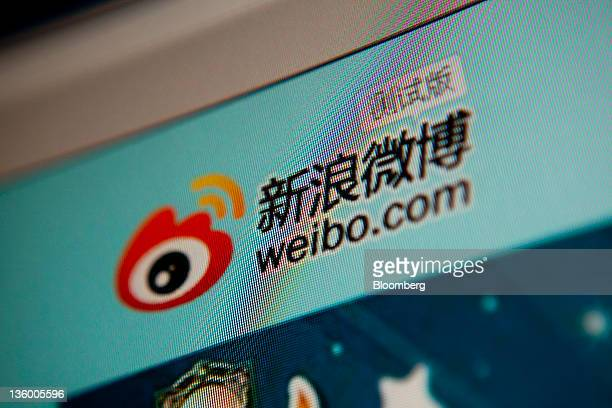 The Sina Corp weibo microblog website is displayed on a computer in Beijing China on Friday Dec 16 2011 Beijing city has asked all new microblog...