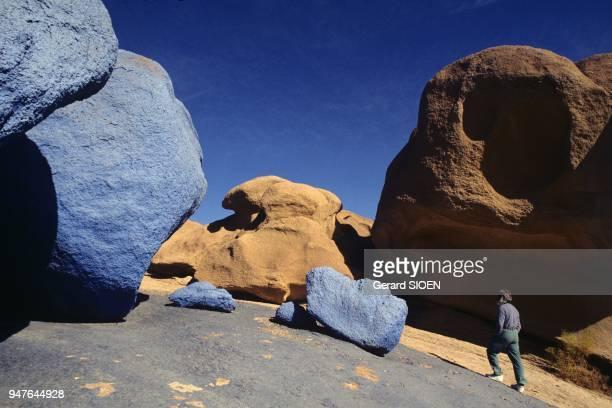 The Sinai desert The Blue rock Egypt
