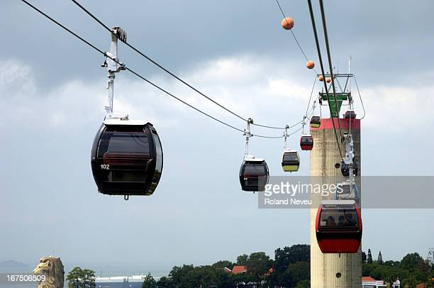 The Singapore Cable Car provides an aerial link from Mount Faber on the main island of Singapore to the resort island of Sentosa across the Keppel...
