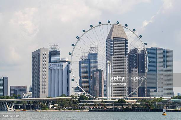 The Singapore Flyer stands in Singapore on Thursday June 30 2016 The Singapore International Water Week runs from July 10 through July 14...