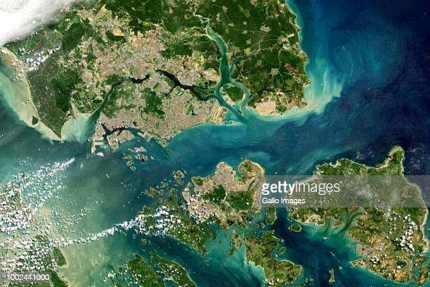 The Singapore Strait a strategic international shipping lane which connects the Strait of Malacca to the South China Sea and Java Sea Malaysia...