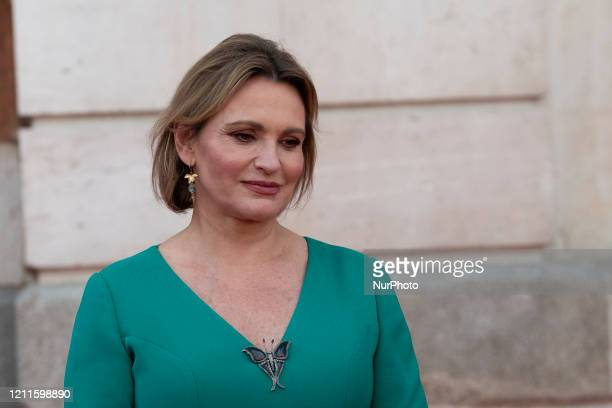 the singer Ainhoa Arteta during the celebration of the party on May 2 at the post office headquarters of the Community of Madrid May 2 2020