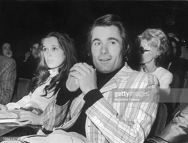 The singer Alain BARRIERE attending the premiere of Catherina VALENTE's singing tour at the Olympia in Paris