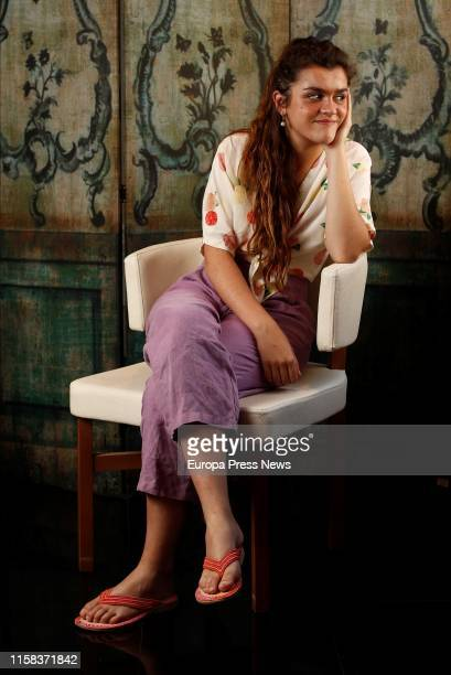 The singer Amaia Romero poses after an interview with Europa Press in which she has presented her new album which will be released after the summer...