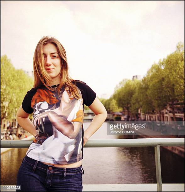 The singer Anais in Paris France in September 2005