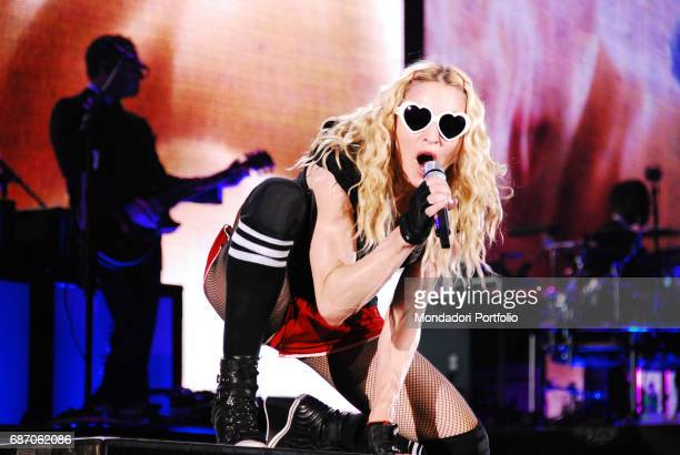 The singer and actress Madonna in concert at the Friuli Stadium in Udine Udine Italy 16th July 2009