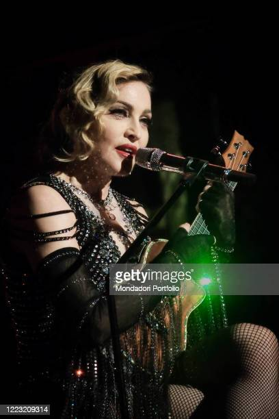 The singer and actress Madonna in concert at the Pala Alpitour in Turin during a stage of her Rebel Heart World Tour. Turin November 21st, 2015