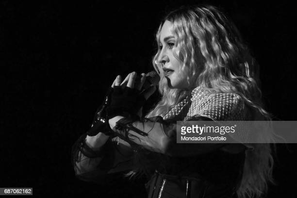 The singer and actress Madonna in concert at the Pala Alpitour in Turin for one date of her Rebel Heart World Tour. Turin, Italy. November 2015