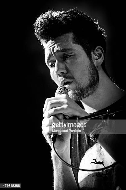 The singer and leader of Bastille Dan Smith performing at Alcatraz in a photo shooting Milan Italy 23rd November 2013