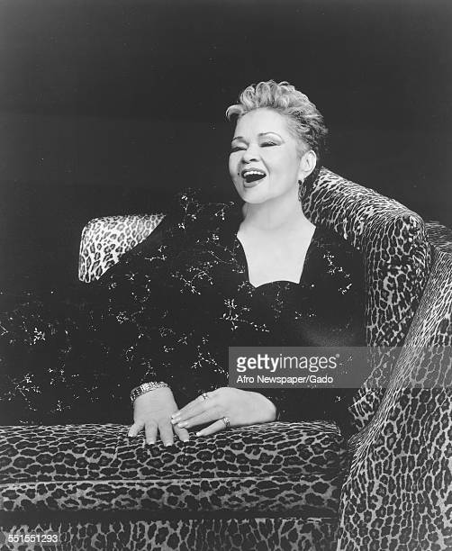 The singer and songwriter Etta James on stage in a chair in 2009 1960