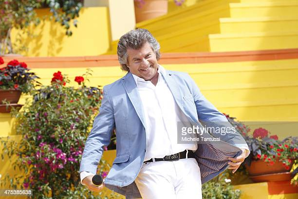 The singer Andy Borg in during the season kick off of the tv show 'Immer wieder Sonntags' at Europapark on May 31, 2015 in Rust, Germany.