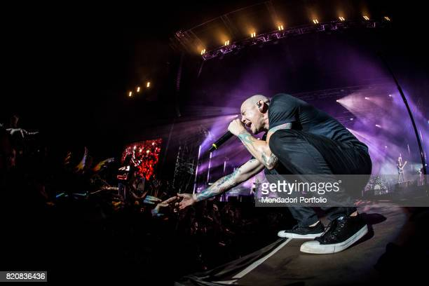 The singer anf frontman of Linkin Park Chester Bennington in concert for the iDays Festival 2017 at the Autodromo Nazionale di Monza Monza Italy 17th...