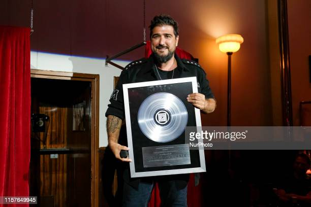 The singer Antonio Orozco during the press conference on the occasion of the end of his successful tour only 2nd season in Madrid July 25 2019 Spain