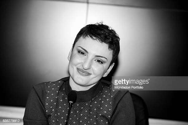 The singer Arisa at the 66th Sanremo Music Festival Sanremo Italy February 2016