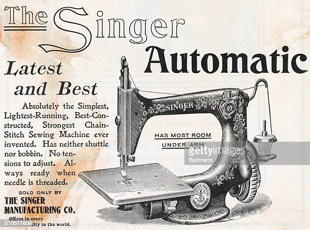 The Singer Automatic Latest And Best Absolutely the Simplest LightestRunning Best Constructed Strongest Chain Stitch Sewing Machine ever invented Has...