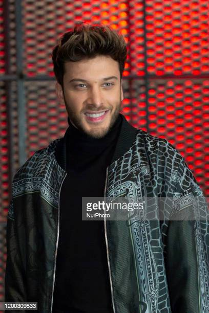 the singer Blas Canto attends the presentation of the TV show the VOZ KIDS at Atresmedia in Madrid February 12 2020 Spain