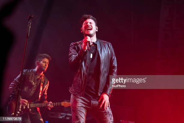 the singer Cepeda during his performance at the Teatro Nuevo Apolo on March 11 2019 in Madrid Spain