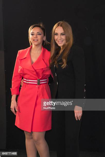 The singer Chenoa and Monica Naranjo attends the presentation of 'Tu cara no me suena todavía' in Madrid March 8 2017