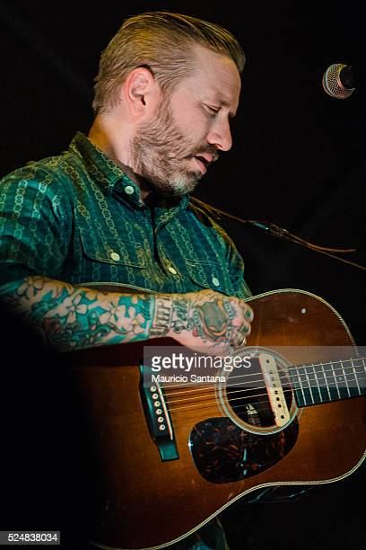The singer Dallas Green member of the band City and Colour performs live on stage at Cine Joia on April 26 2016 in Sao Paulo Brazil