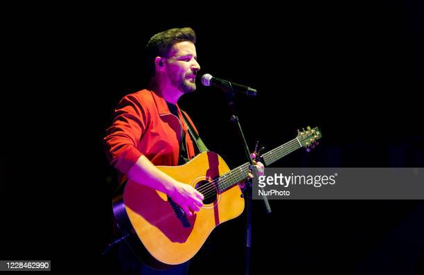 The singer Diego Cantero from the Funambulista group during her performance in the concert offered at the Madriz Summer Fest in Madrid, Spain, on...