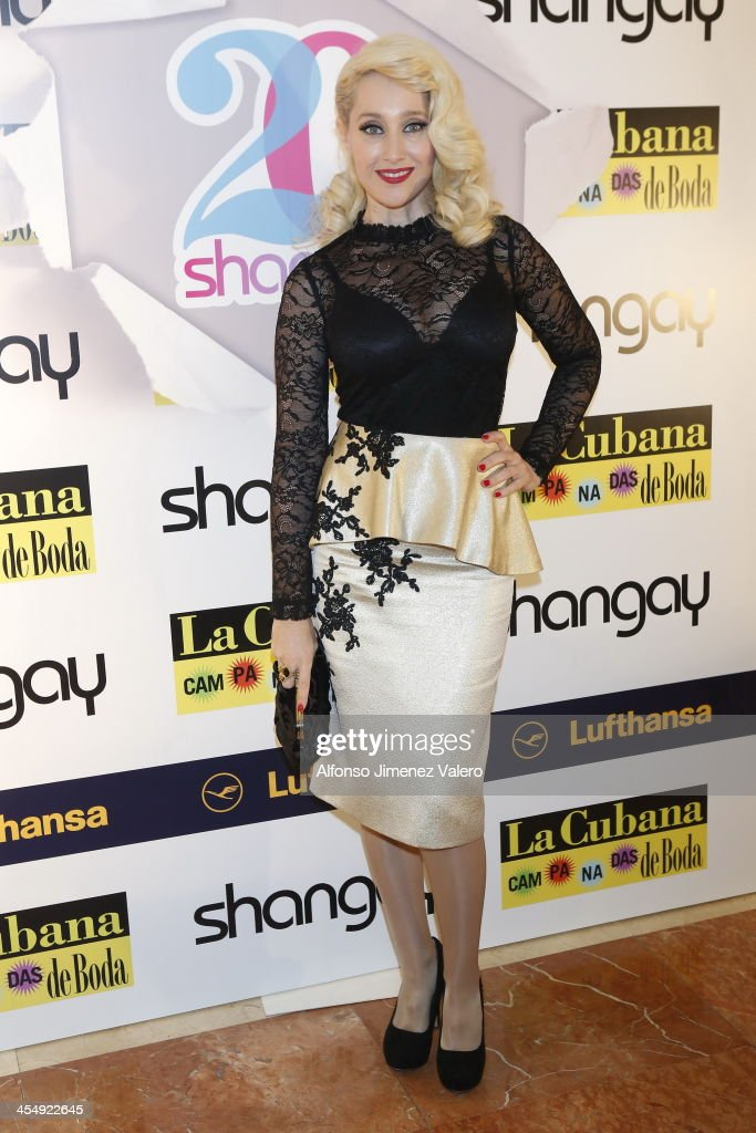 The singer Geraldine Larrosa of 'Innocence' attends Shangay Magazine 20th Anniversary in Madrid at teatro Nuevo Alcala on December 10, 2013 in Madrid, Spain.