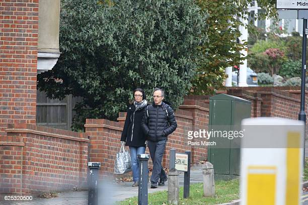 the singer JeanJacques Goldman in London with his wife Nathalie on November 8 2016
