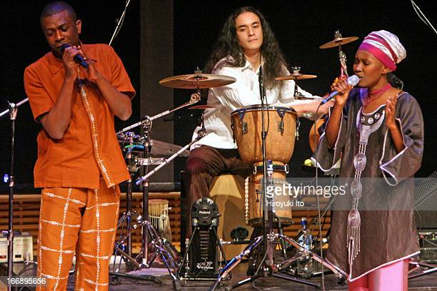 The singer Julia Sarr performing in the program 'Youssou N'Dour The Fresh Face of African Music' at Zankel Hall on Monday night October 24 2005This...