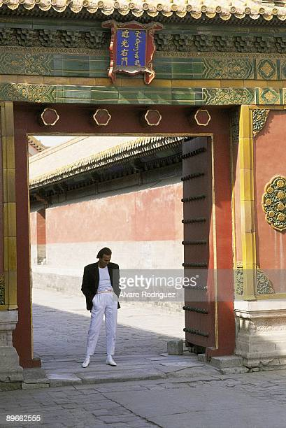 The singer Julio Iglesias in the Forbidden City
