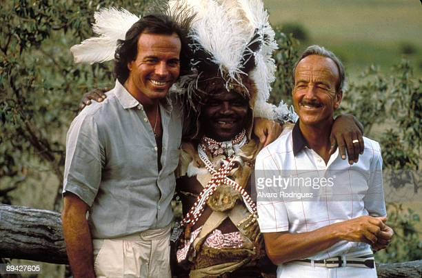 The singer Julio Iglesias with his father, Julio Iglesias Puga in South Africa.