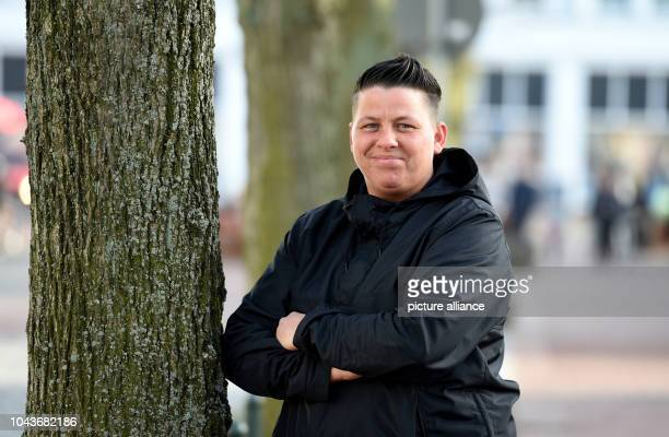The singer Kerstin Ott looks into the camera in Heide Germany 15 March 2017 Her song 'Die immer lacht'  is the most successful German song of the...