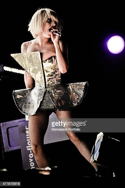 'The singer Lady Gaga performing at Isle of MTV Malta special in a photo shooting Floriana Malta 8th July 2009 '