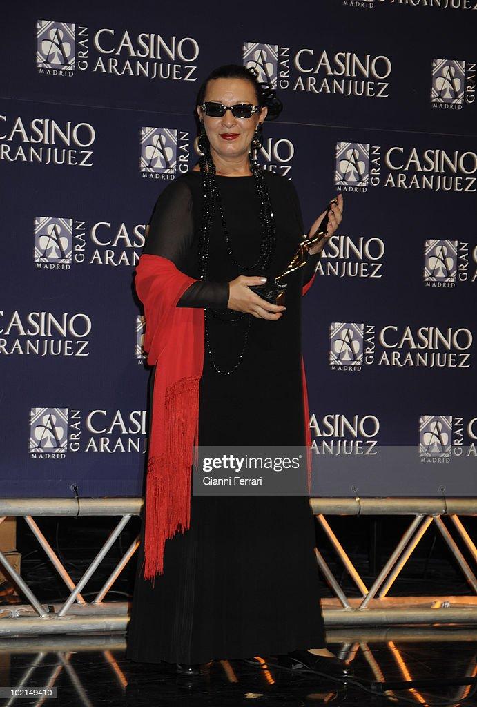 The singer Martirio, winner of the award 'Golden Antenna', 27th September 2009, 'Gran Casino de Aranjuez', Aranjuez, Madrid.