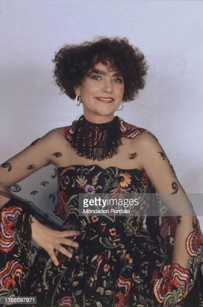 The singer Mia Martini at the 40th Sanremo Music Festival Sanremo Italy 1990