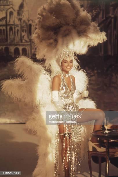 The singer Mia Martini in the TV variety show La Compagnia Stabile della Canzone Italy 1975