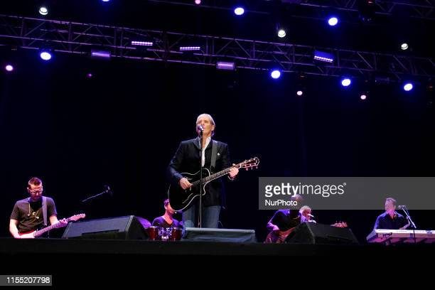 The singer Michael Bolton performs on stage during Las Noches Del Botanico at the Royal Botanical Garden of Alfonso XIII on July 11, 2019 in Madrid,...