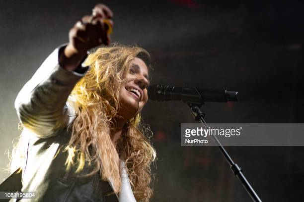 the singer Miriam Rodriguez during her performance in Madrid Spain January 11 2019
