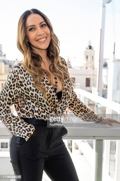 the singer Monica Naranjo poses during the presentation of her new tour when the 25th anniversary of the release of her first album in Madrid Spain...