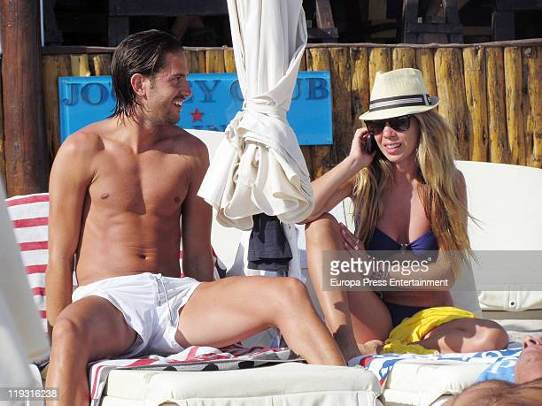 The singer Natalia Rodriguez and her boyfriend are seen sighting on July 18 2011 in Ibiza Spain