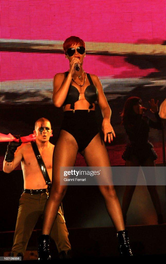 The singer of Barbados Rihanna during his concert in 'Rock in Rio', 5th Juny 2010, Arganda del Rey, Madrid.