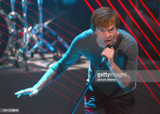 The singer of the band 'Die Toten Hosen' Campino performes during the live televised show '2013 Menschen Bilder Emotionen' of German TV channel RTL...
