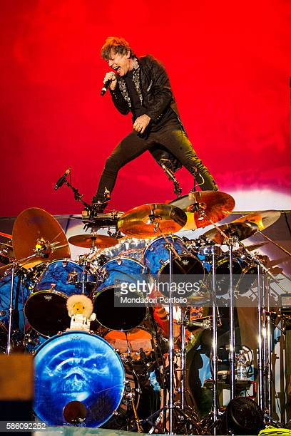 The singer of the band Iron Maiden Bruce Dickinson in concert for the Rock in Idro Festival at the Arena Parco Nord in Bologna Bologna Italy 1st June...