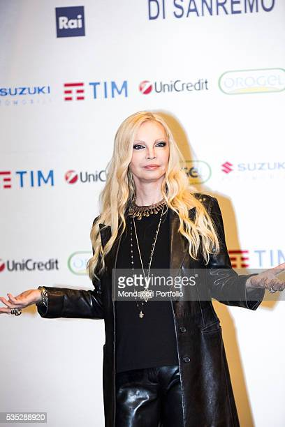 The singer Patty Pravo at the 66th Sanremo Music Festival Sanremo Italy February 2016