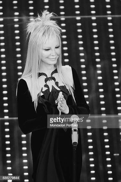 The singer Patty Pravo on stage at the 66th Sanremo Music Festival Sanremo Italy 11th February 2016