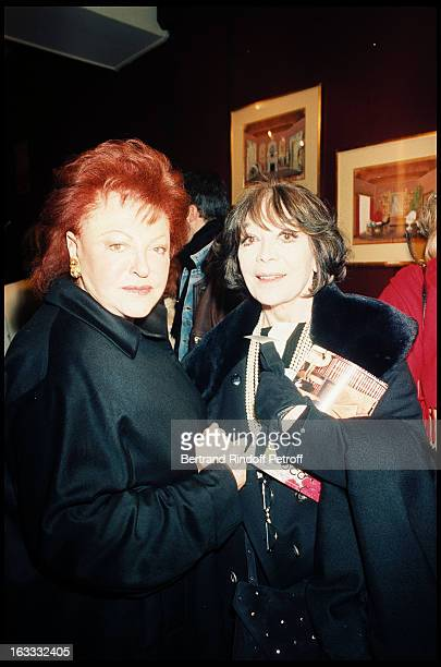 The singer Regine and Juliette Greco at theParis Theatre Production Of Chateau En Suede At The Theatre Saint George 1998