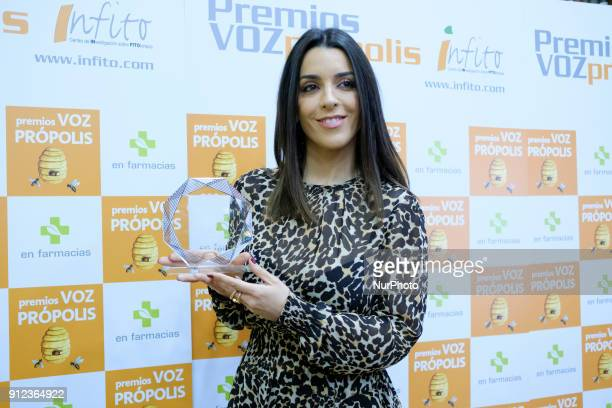 The singer Ruth Lorenzo awarded the Própolis Prize to the voices of the year in Madrid Spain January 30 2018