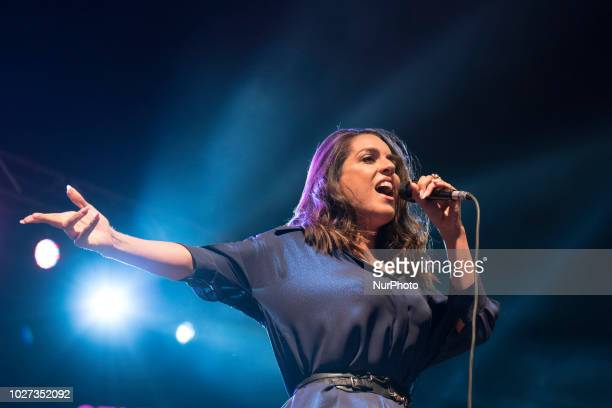 The singer Ruth Lorenzo during the performance FREDDIE FOR A DAY in Madrid, Spain on September 5, 2018.